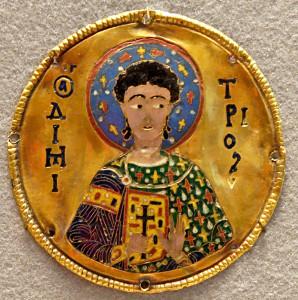Cloisonné enamel plaque, Byzantine Empire, ca. 1100