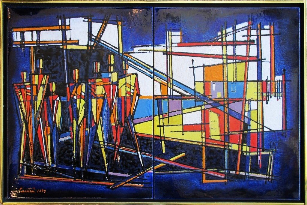 """Construction"" Enamel on Steel. 1970."