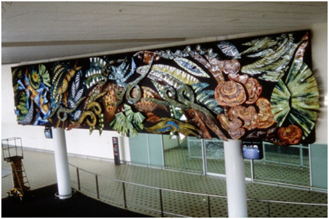 Debbi Sheezel Mural. Brisbane International Airport