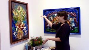 Kristen Dombek discussing enameling